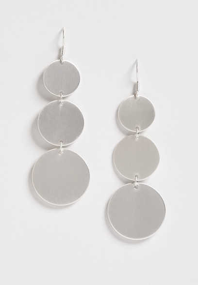 three circle drop earring