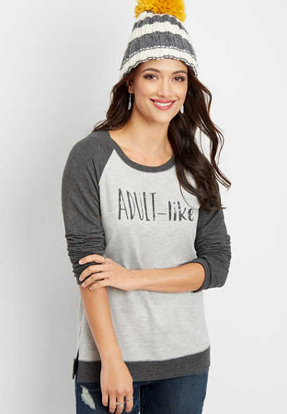 adult-like graphic pullover