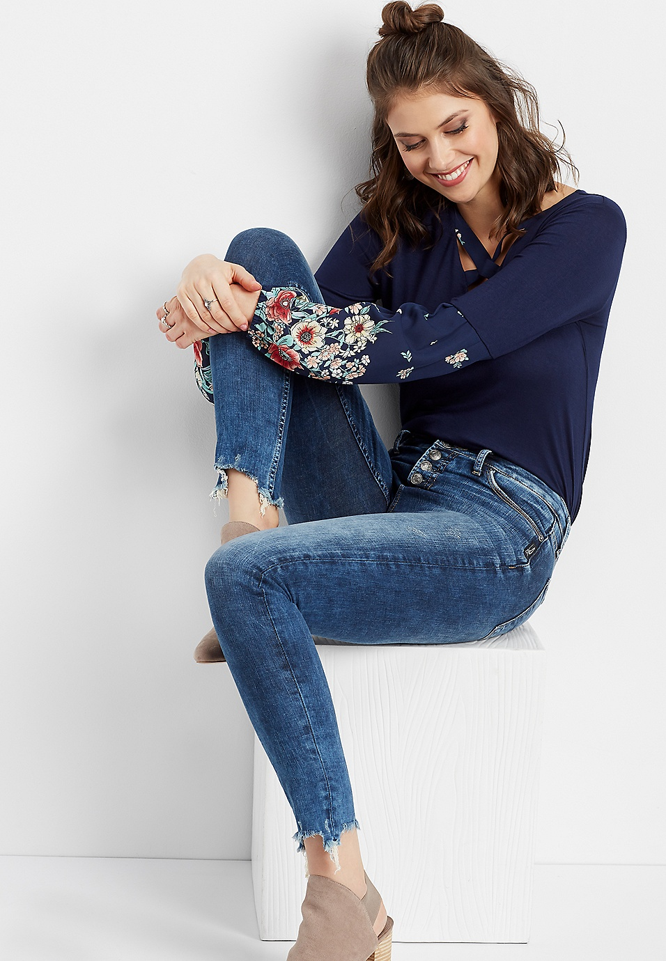 d4df3ce9 Silver Jeans Co.® Mazy high rise button fly skinny jean | maurices