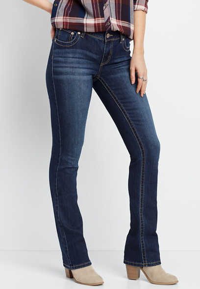 DenimFlex™ dark wash slim boot jean