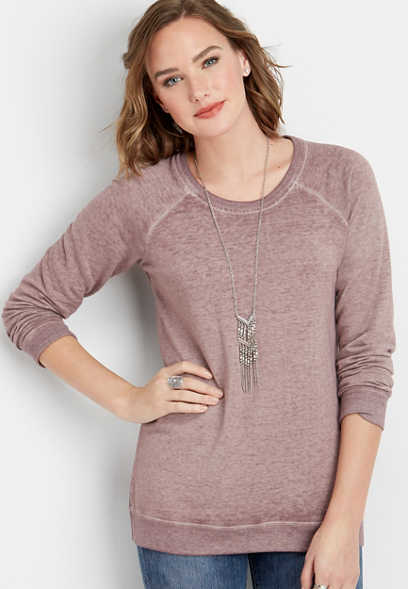 basic scoop neck sweatshirt
