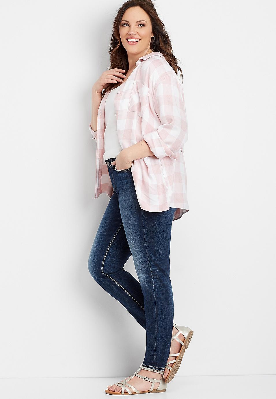 plus size Silver Jeans Co.® Suki dark wash skinny jean