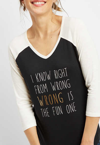right from wrong graphic tee
