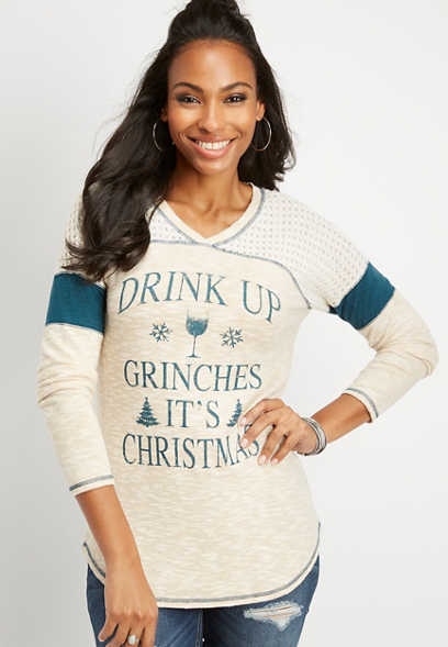 drink up grinches graphic tee