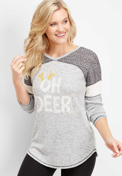 oh deer graphic tee