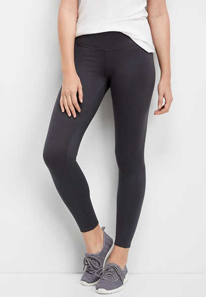 gray high rise 7/8 active legging