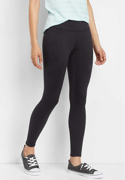 mid rise black 7/8 active legging
