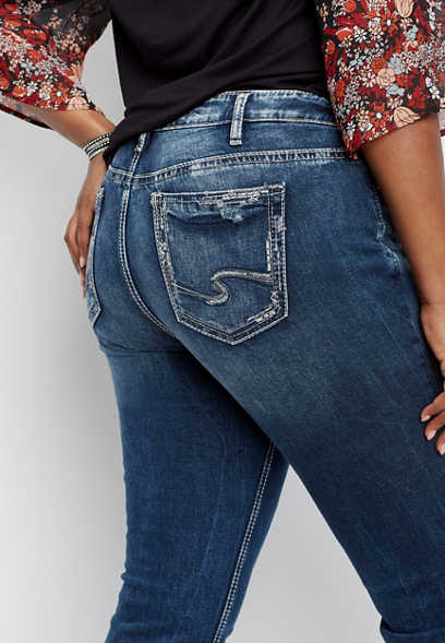 plus size Silver Jeans Co.® Elyse straight leg jean