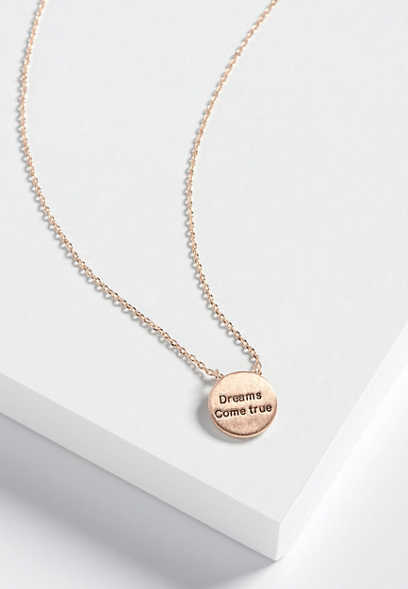 dainty dreams come true pendant necklace