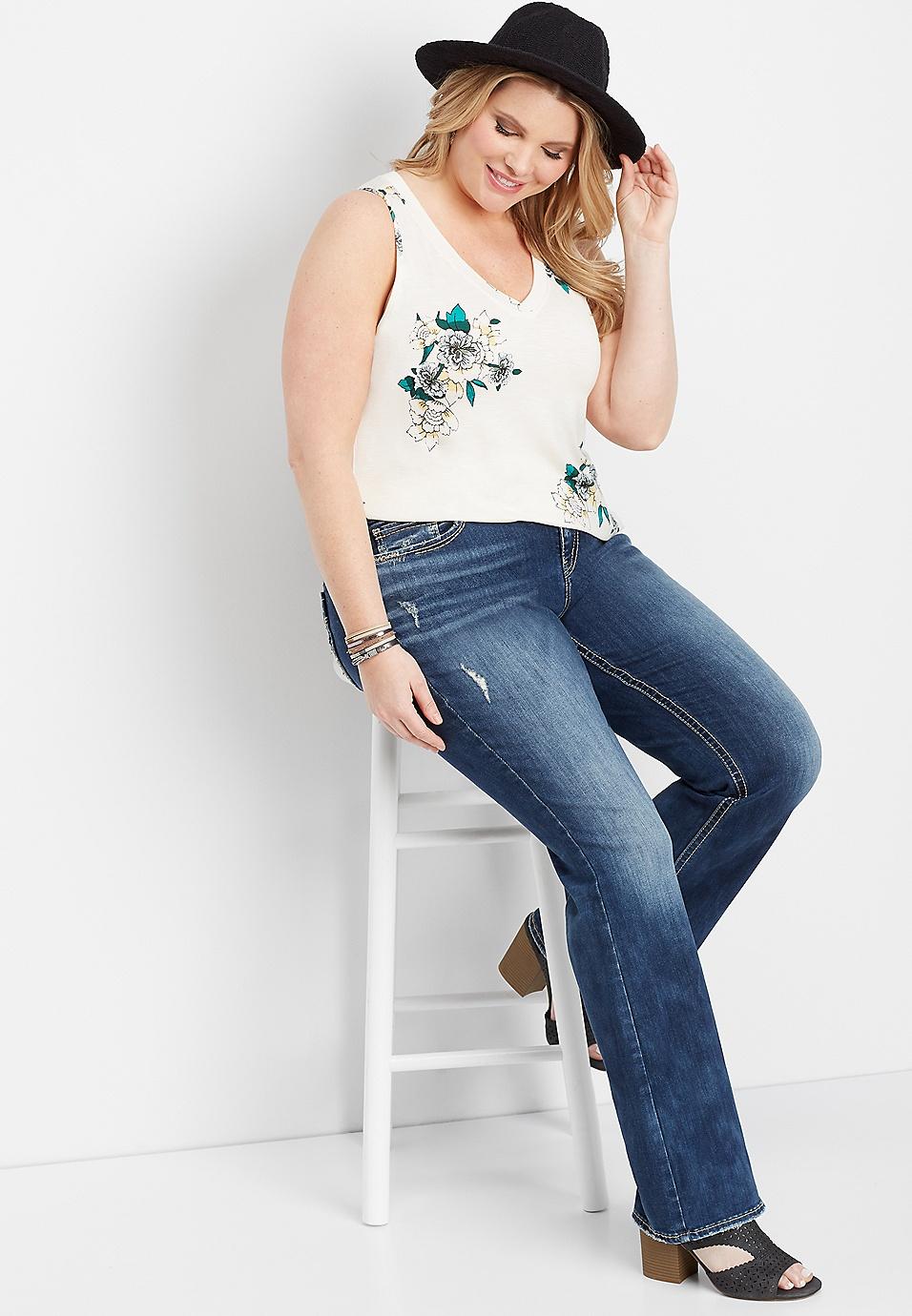 5f32b833e31 plus size Silver Jeans Co.® Elyse back flap bootcut jean