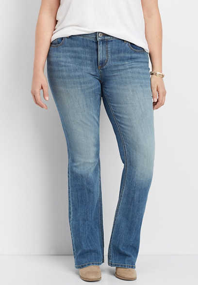 plus size DenimFlex™ medium wash boot cut jean