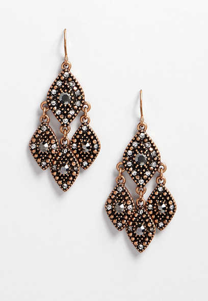 diamond shape drop earring