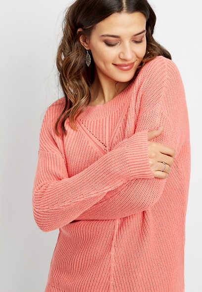 washed long sleeve pullover