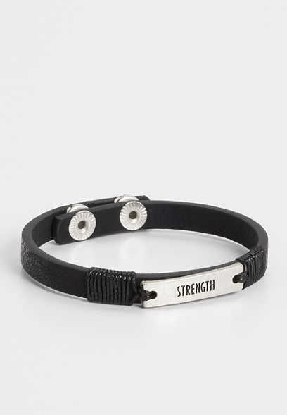 black strength snap bracelet