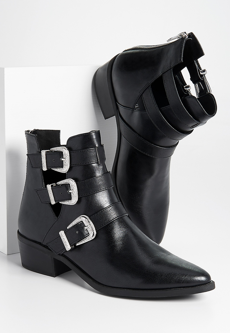 e44bf6528195 Madden Girl Cecily buckle ankle bootie