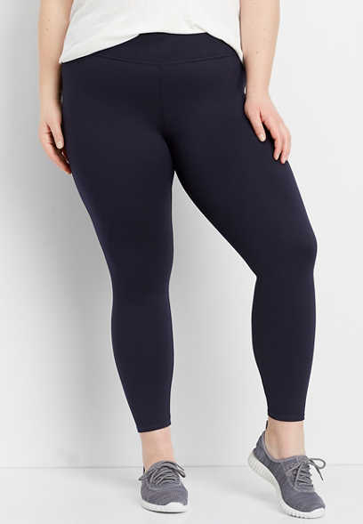 484066531f18c plus size navy high rise 7/8 active legging