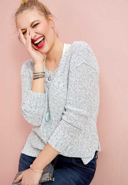bar back tunic sweater