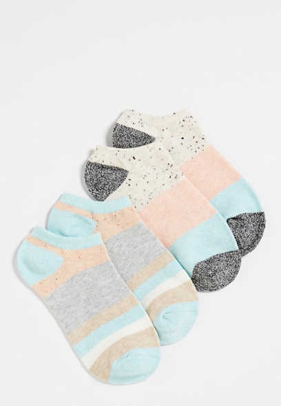 two pack stripe ankle socks