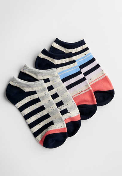two pack patterned ankle socks