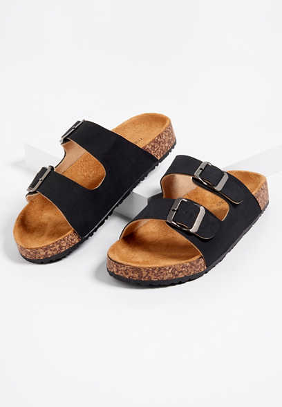 Alyssa double strap molded footbed sandals