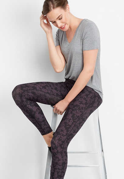 floral print high rise 7/8 active legging