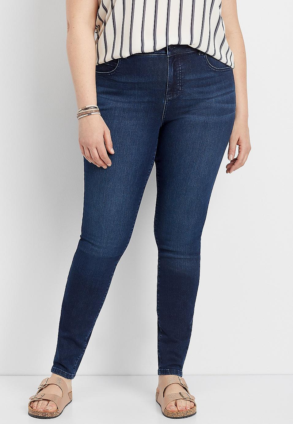 2eb5a097a29 plus size Everflex™ dark rinse high rise skinny jean