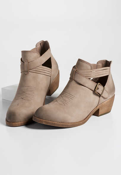 Tori open side buckle bootie