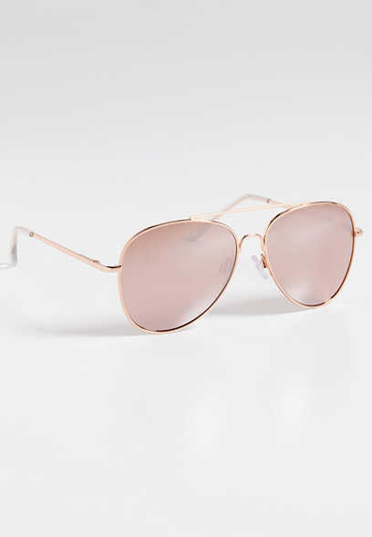 Austin Rose Goldtone Aviator Sunglasses