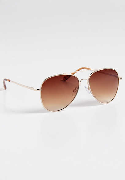 Austin Goldtone Aviator Sunglasses