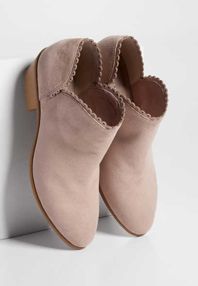 Tammy scallop trim ankle bootie