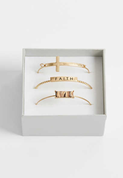 faith three piece bracelet set