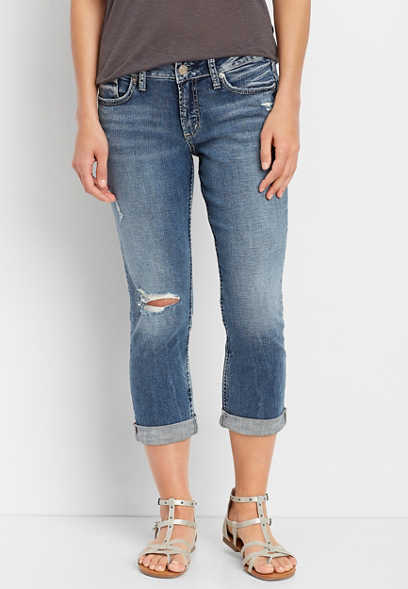 Silver Jeans Co.® Elyse destructed capri