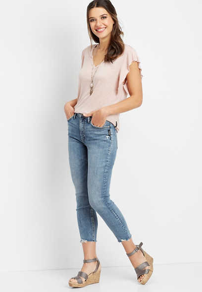 Silver Jeans Co.® Calley high rise skinny cropped jean