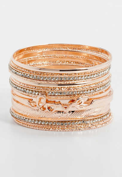 love bangle bracelet set