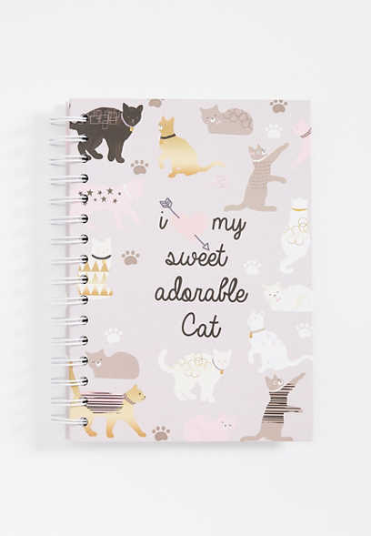 adorable cat notebook
