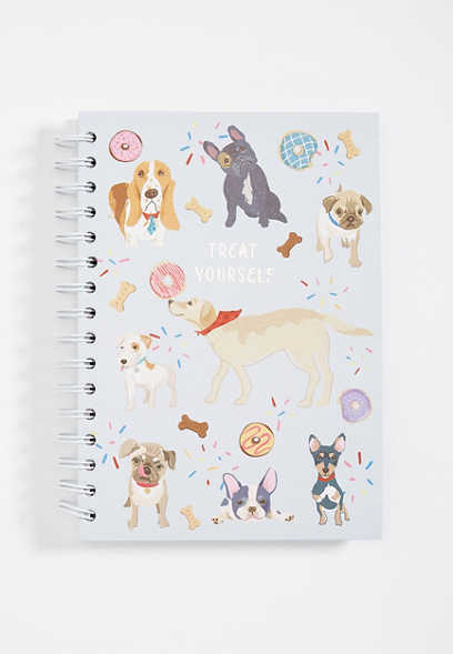 treat yourself dog notebook