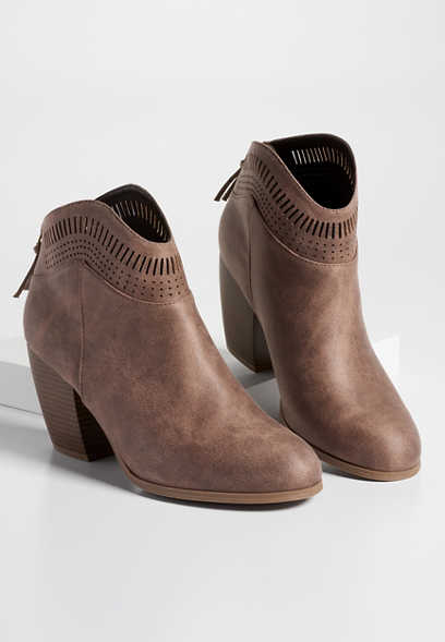 Tonya western perforated bootie