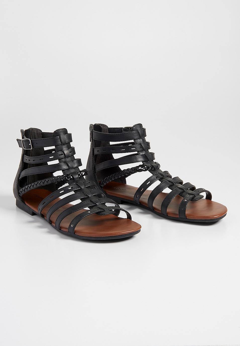 33747b63d923 Alexis braided strap gladiator sandal