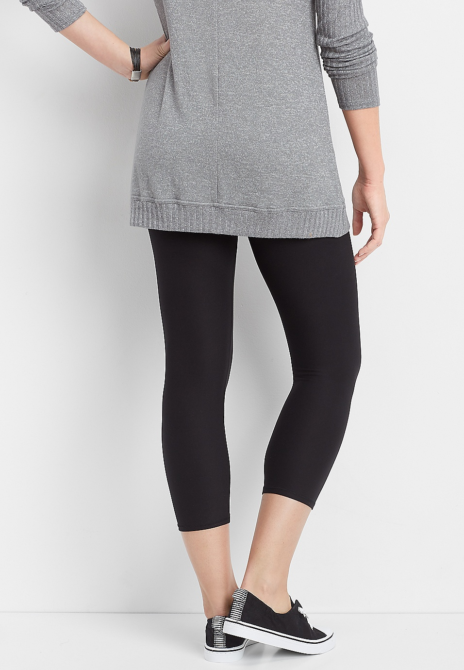 40ea0f56d2812f black ultra soft high rise crop legging | maurices