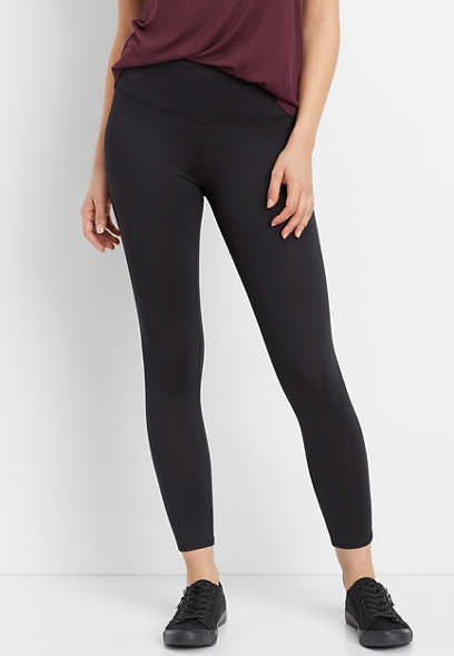 black super high rise 7/8 active legging