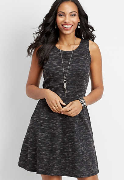 spacedye scoop neck ponte dress