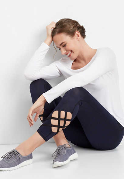 lattice hem 7/8 active legging