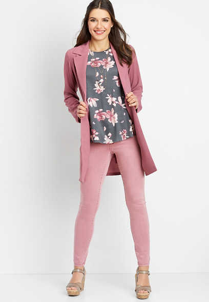 soft rose trench jacket