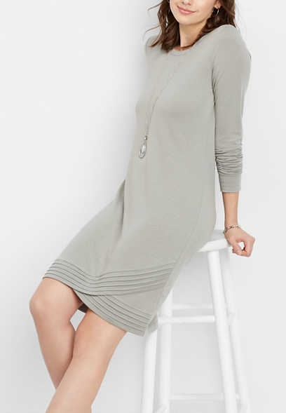 tulip hem sweatshirt dress