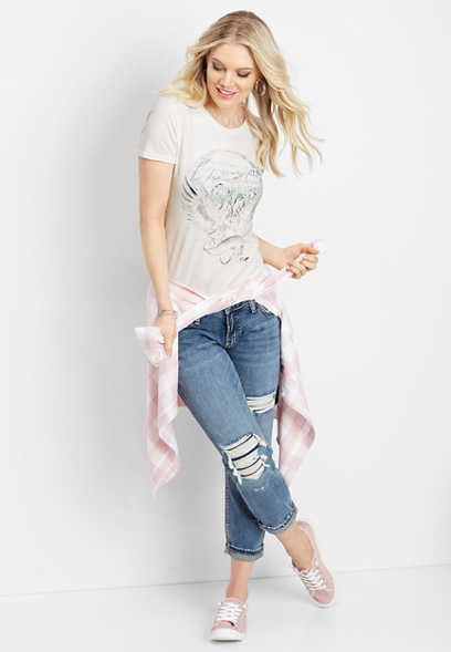 Silver Jeans Co.® sunset graphic tee