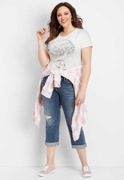 66d6bb9b2ea plus size Silver Jeans Co.® sunset graphic tee