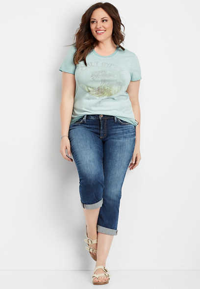 plus size Silver Jeans Co.® salt gypsy graphic tee