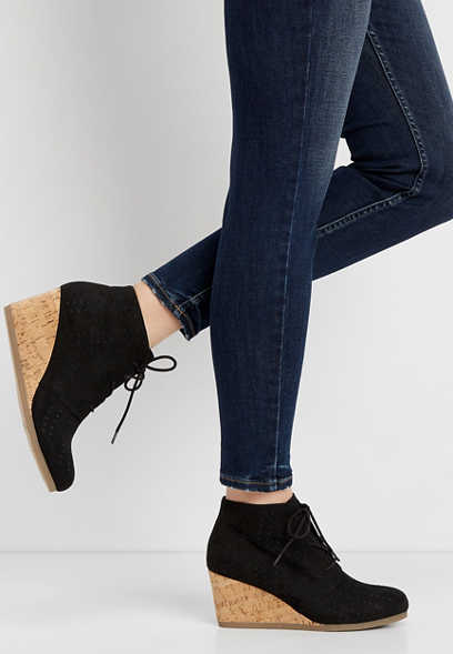 12abab4e39af Tegan laser cut cork wedge