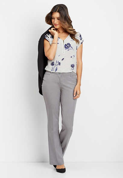 heather gray classic bootcut pant