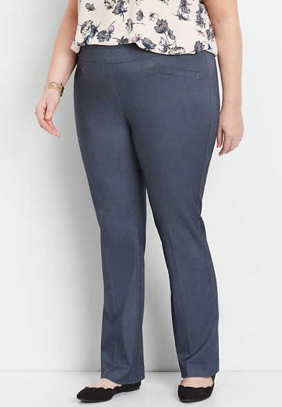 plus size stretch pull on bootcut pant
